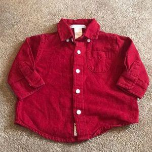 Janie & Jack Red Flannel Shirt